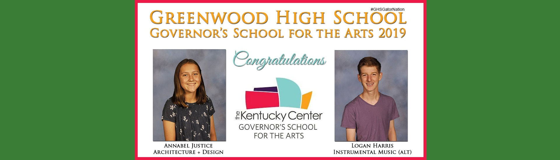 Governor's Scholar for the Arts 2019