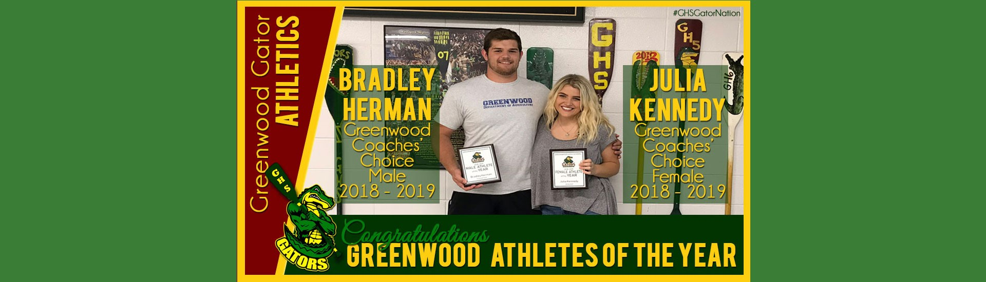 Coaches Choices Athletes of the Year